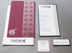 QATAR, Corporate Event Invitation silver foil print www.cameleon-design.ca