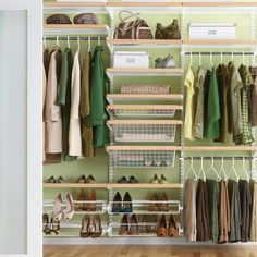 Our best-selling elfa system will transform your reach-in closet into a functional, useful space - and the solid birch accents will make it gorgeous! This