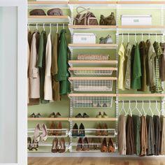 the container store birch white elfa dcor classic reach in closet