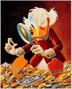 from $675.0 - Disney Carl Barks Litho & Coa Hand Signed The Expert #345/595 Uncle Scrooge Art