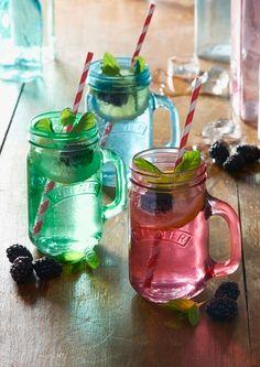 coloured jars, 0.4L brighten up your garden