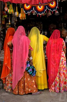 Colourful Saris in Jodhpur, India