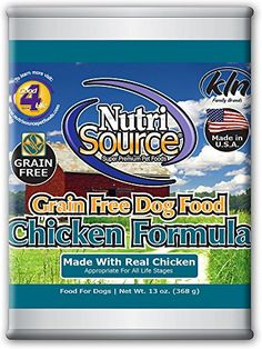 Nutrisource GrainFree Canned Chicken Dog Food 13oz Pack of 12