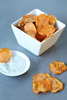 Paprika chips van zoete aardappel, Gezonde chips maken, Chips van groenten maken, Gezonde snacks, Glutenvrije snacks, Gezonde foodblogs, Gutenvrije foodbloggers