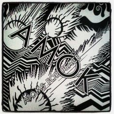 February 25 will see Atoms for Peace - a collaboration between Radiohead frontman Thom Yorke and the band's producer Nigel Godrich - release their debut album AMOK.Enlisting musicians Flea (Red Hot Chili Peppers, The Mars Volta), Joey Waronker (drummer. Radiohead Albums, Music Albums, Atoms For Peace, Thom Yorke Radiohead, Xl Recordings, Cool Album Covers, Music Covers, Pochette Album, Album Covers
