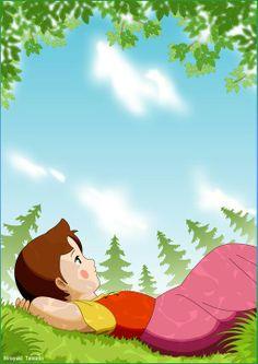 Heidi Cartoon Drawings, Cartoon Art, Heidi Cartoon, 80 Cartoons, Vintage Cartoon, Anime Art Girl, Alps, Preschool Activities, Childhood Memories