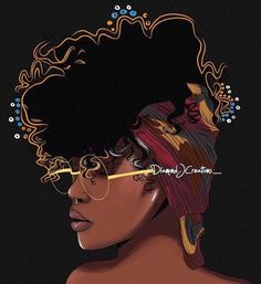 'Black Girl Magic ' Canvas Print by Diamondjae Black Girl Art, Black Women Art, Black Girls Rock, Black Girl Magic, Art Girl, African American Art, African Art, Natural Hair Art, Natural Hair Styles