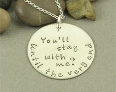 You'll stay with me.... Harry Potter Inspired Hand Stamped Sterling Silver Necklace