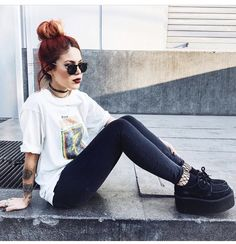 Lua is major style goals Grunge Look, Mode Grunge, Style Grunge, 90s Grunge, Hipster Grunge, Grunge Outfits, Edgy Outfits, Grunge Fashion, Cute Outfits