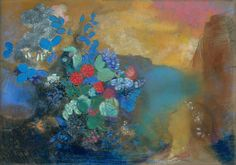 Ophelia Among the Flowers by Odilon Redon | Art Posters & Prints