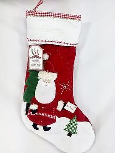ed745426a New Mommy Pottery Barn Kids Quilted Santa With Letter Christmas Stocking