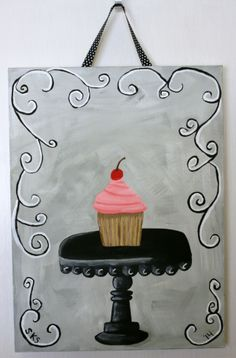 Cupcake Art- Two Texas Gals