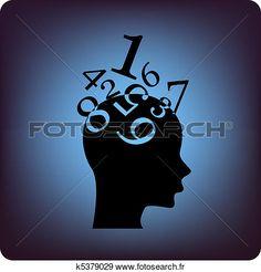 math, cerveau Voir Clipart Grand Format