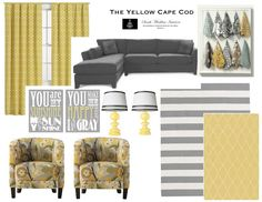 The Yellow Cape Cod: Custom Room Designs Marybeth- these chairs could be your couch pattern