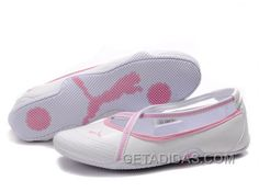 cb99a5f2aae1 Womens Puma 5 On Behalf Sandals White Pink Authentic