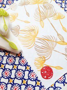 dandelion stamp set. dandelion seed hand carved by talktothesun