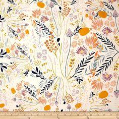 Amazon.com: Art Gallery Morning Walk Jersey Knit Wispy Daybreak Aura Fabric By The Yard