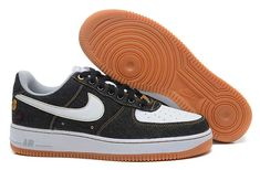 more photos dd1a5 0ca27 Buy Mens Nike Air Force One Low 07 Denim Low Shoes Black White-Gum  Brown-Wolf Grey from Reliable Mens Nike Air Force One Low 07 Denim Low Shoes  Black ...
