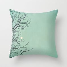 Holding the moon Throw Pillow by Laura Ruth  - $20.00