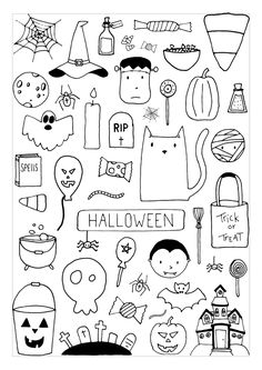 halloween colorpage