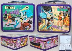 vintage batman and robin lunchboxes! from about 1966