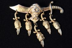 Korda Sword Brooch - Upload to Mink Road 2015 Mink, Costume Jewelry, Sword, Brooches, Jewelry Accessories, Vintage Fashion, Exotic, Brooch, Fashion Vintage