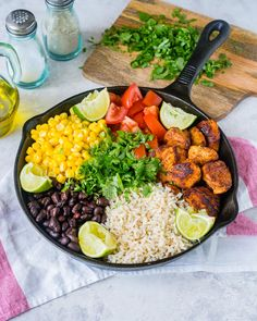 This NEW Simple Turkey Burrito Skillet Will Be a Household Fav! Dairy Free Recipes, Real Food Recipes, Diet Recipes, Cooking Recipes, Healthy Recipes, Lunch Recipes, Healthy Meals, Chicken Recipes