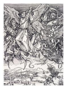 St. Michael Slaying the Dragon  Albert Durer