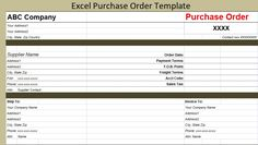 Excel Purchase Order Template  Free Invoice Templates