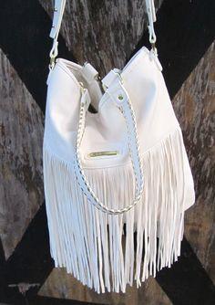 STEVE MADDEN Cream Ivory Off White Hippie Fringe Bag Tote Purse Handbag Satchel 762670467926 | eBay