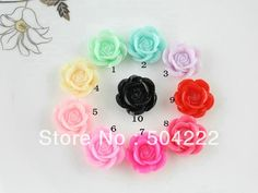 cabochon gem Picture - More Detailed Picture about 250pcs lovely rose flower resin Cabochons 19mm hair accessory supply DIY handicraft pastel resin sakura flowers Picture in Beads from Qian Craft Kits  | Aliexpress.com | Alibaba Group