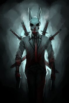 Beware of the Bunny Man! Dark Fantasy Art, Foto Fantasy, Dark Art, Fantasy Artwork, Fantasy Character Design, Character Concept, Character Inspiration, Character Art, Concept Art