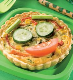 Tarta vegetariana #receta #vegetariana