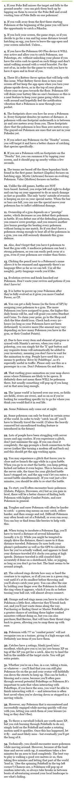 Pokemon Go - Pro Tips