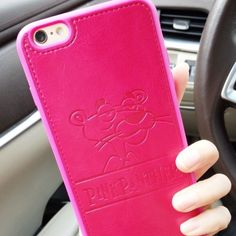 Pink Panther Iphone 6S Plus Imported from Korea. Made with manmade leather. Pre-order items. Accessories Phone Cases
