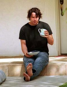 Keanu Reeves and his breakfast
