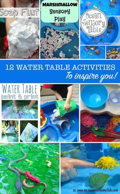 These water table activities look like so much fun - I can't decide which to try first!