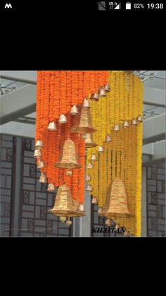 Spiral Flowers With Bells Stage Decoration Ide
