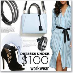 Work Wear :: Furcal Striped Midi Dress