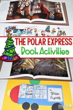 Polar Express Classroom Activities for kindergarten and first grade. Students will retell the story, make connections, complete a craft, plus math and literacy center activities. Worksheets to make this fun Christmas resource easy to prep with tons of learning! by dorthy