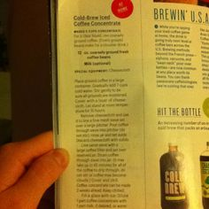 How to brew iced coffee. From bonappetit July 2012