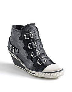 Genial Buckle Wedge Sneakers