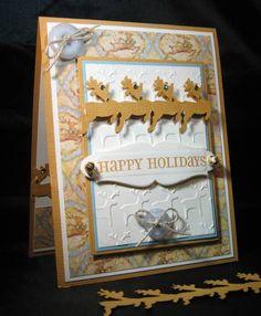 QFTD142,Congrats Pam, Vintage Reindeer