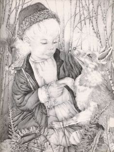 Kuzma and the Fox (Illustrations to The Fairy Tale Book) - Adrienne Segur