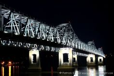 Connects my parents two hometowns in MS and LA! Natchez Mississippi, Mississippi State, Great Places, Places To See, Places Ive Been, The Beautiful South, Over The Bridge, Madison County, Restaurant Design