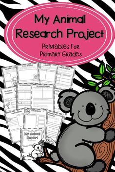 Helpful printables that will go great with any animal research project. Perfect for grades 1-2.
