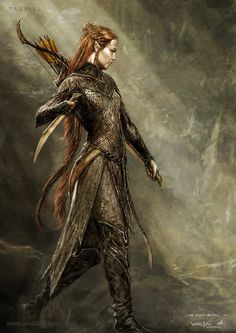 Tauriel - The Hobbit, part II - Concept design as seen in The Hobbit: The Desolation of Smaug, Chronicles: Art & Design and Smaug: Unleashing the Dragon - The Art of Nick Keller