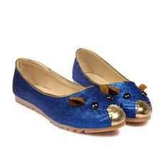 Super Cute!!!  $9.95 Casual Women's Flat Shoes With Cute Animal and Sparking Glitter Design