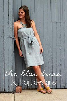 DIY Clothes DIY  Refashion  DIY the blue dress (strapless GAP dress knock off)