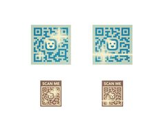 Some assets from a new set of illustrations I'm putting together for a client, it's about Qr Codes and it's fun. Colors are off brand :P